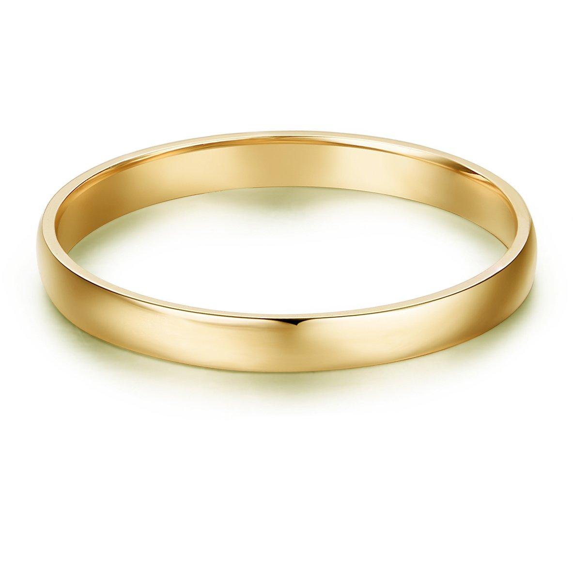 14k Gold 2mm Light Comfort Fit Classic Plain Wedding Band (yellow-gold, 4)