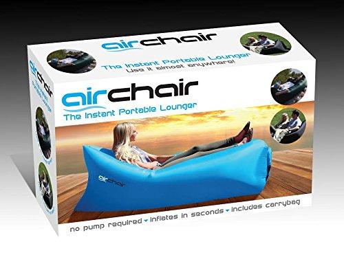 Blue Air Chair The Instant Portable Lounger Festival Beach Camping