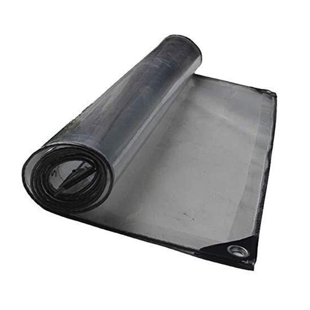 Clear 4x4M Couverture de bÂche transparente en verre souple imperméable imperméable transparente résistante de PVC avec des perforations idéale for des tableaux, des toits, des piscines, des camions et des feuil