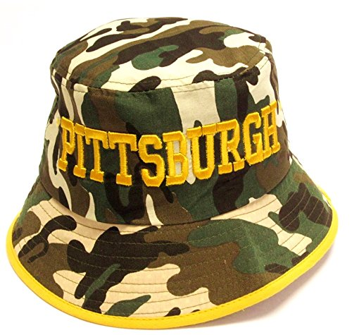 Pittsburgh Steelers Camo Bucket Hat – Football Theme Hats 71739ea30693
