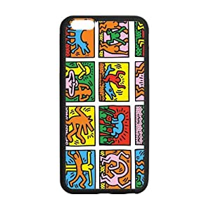 SKCASE Cover Case for iPhone 6 Plus 5.5 inch Keith Haring nice Graffiti art hjbrhga1544