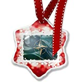 Christmas Ornament North Atlantic Treaty Organization (NATO) Flag, red - Neonblond