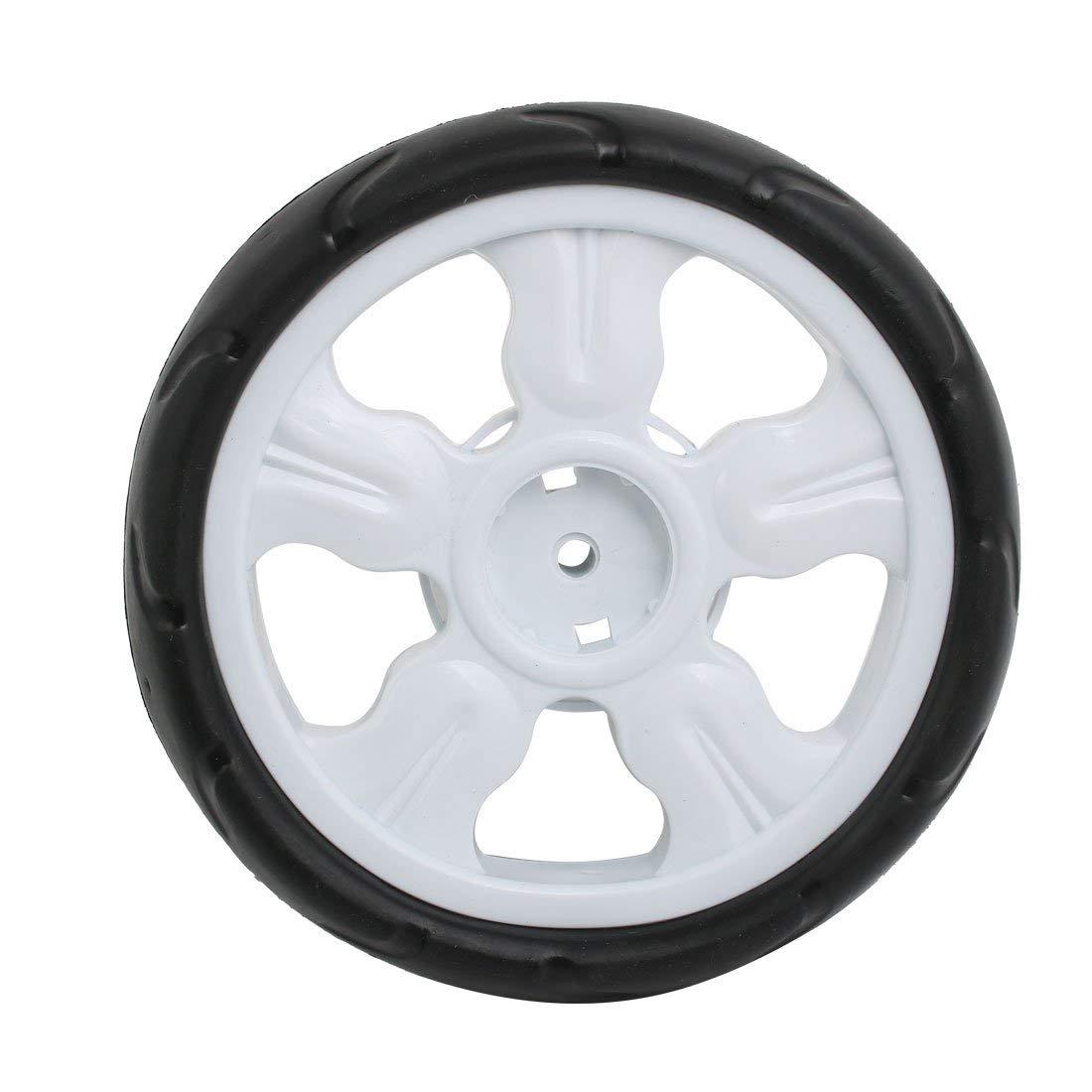 2pcs 190mm diam/ètre roue simple poulie plastique poussette roulant blanc rouleau 8x25mm