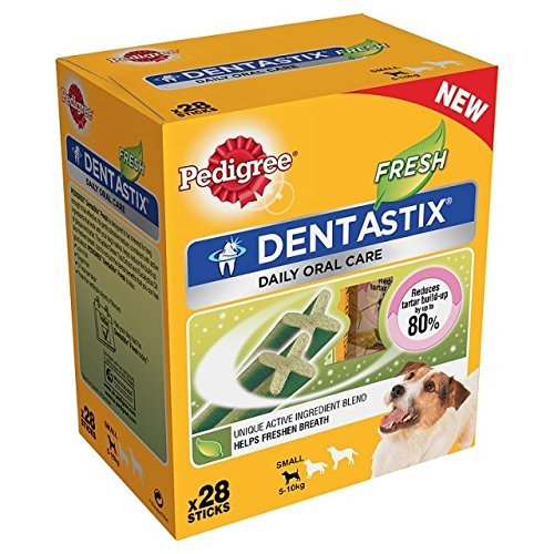 7 X Pedigree Dentastix Fresh 28 Sticks (Pack Size  Small Dog)