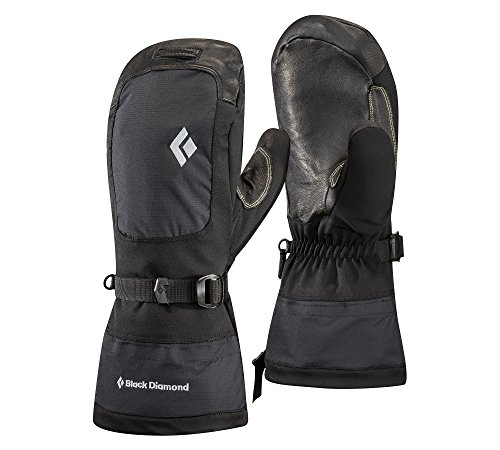 Black Diamond Mercury Mitts Black L and HDO Lite E-tip Gloves with Grippers Black Mercury Gloves