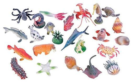 24 assorted ocean animal figures