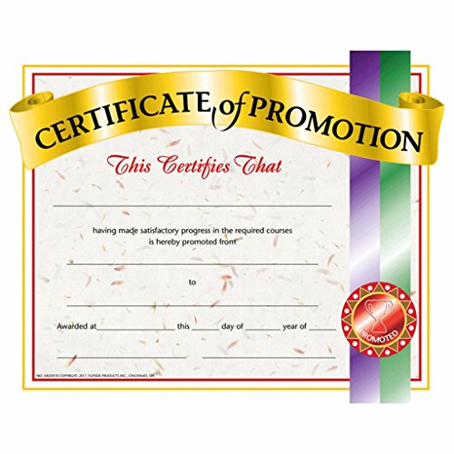 Certificate of Promotion - Glossy Paper - Quantity 150 (Promotion Certificate)