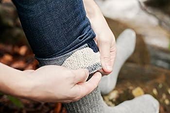4pairs Merino Wool Socks Heather Charcoal Black Large 3
