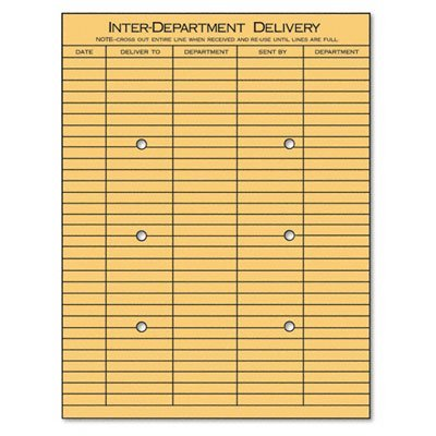 Universal® Light Brown Kraft String & Button Interoffice Envelope ENVELOPE,DEPT,10X13,2SIDE (Pack ()