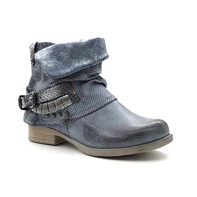 Angkorly - Damen Schuhe Stiefeletten - Biker - Reitstiefel Kavalier -  Classic - Schlangenhaut - Nieten 7b457404c9