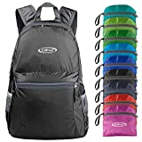 G4Free Ultra Lightweight Packable Backpack Hiking Daypack,Handy Foldable Camping Outdoor Backpack(Black)