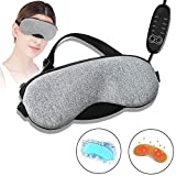 Heated Eye Mask, Big-Fun Electric USB Sleep Mask, Adjustable Temperature Time Control, With Comfortable Warm Or Cold Massage, Eye Mask For Puffy Eyes, Dry, Tired Eyes And Dark Circles