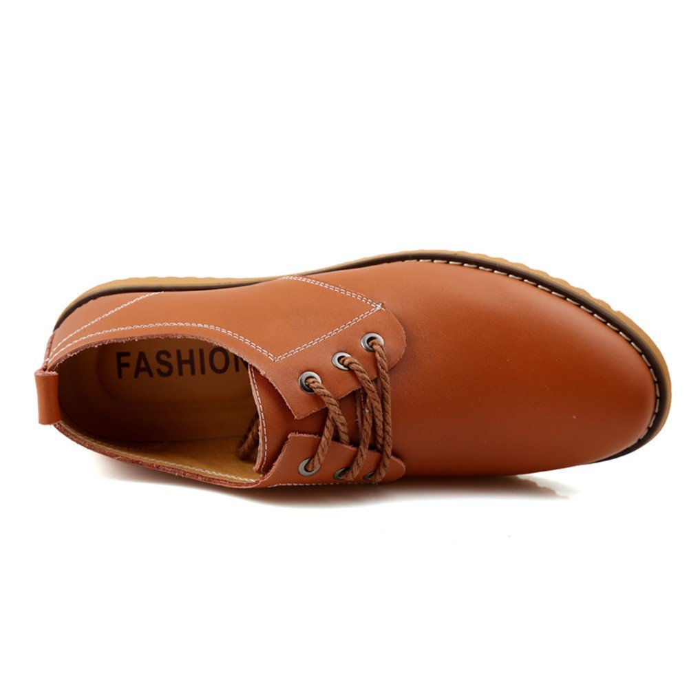 UPWalker Mens Classic Modern Oxford Lace Up Leather Dress Shoes