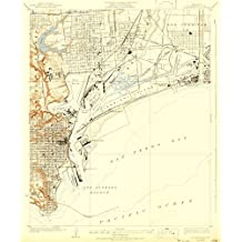 Wilmington CA topo map, 1:24000 scale, 7.5 X 7.5 Minute, Historical, 1925, updated 1931, 20.4 x 16.9 IN