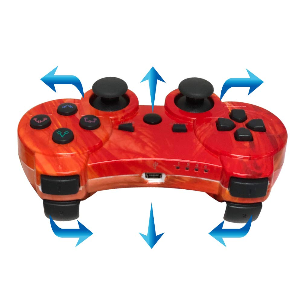 Bowei PS3 Controller Wireless Dual Shock 3 GamePad for Sony PlayStation 3 Joystick Game Mate Remote with Charging Cable