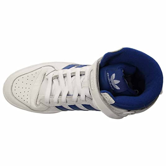 huge discount c3f3b 3e30d Adidas Forum Hi Og Basketball Sneaker Shoe - Running White collegiate Royal  - Mens - 9  Amazon.co.uk  Shoes   Bags