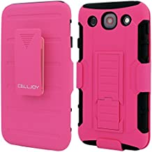 LG G PRO Case, CellJoy [Future Armor] {Hot Pink} LG Optimus G Pro E980 E989 2013 Release Model Case Hybrid Ultra Fit Dual Protection [Heavy Duty] Kickstand Holster **Shock-proof** [Belt Clip Holster Combo] - Robot Case Cover