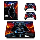 marvel skin decal - Vanknight Xbox One X Console Remote Controllers Skin Set Darth Vader Vinyl Skin Decals Sticker Cover for Xbox One X(XB1 X) Console
