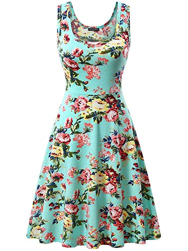 FENSACE Women's Floral Sundress Casual Dresses for ()