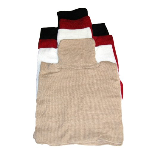 Knit Dickeys Sport Set of 4 (Black, Red, White and Tan),one size (Turtleneck Women Mock Dickies)