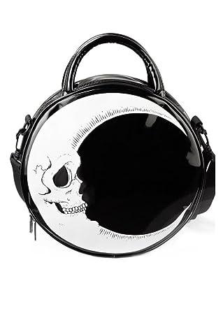 51b6ff0478 Killstar Dark Side Gothic Occult Skull Moon Round Handbag Shoulder Bag  Black Black  Amazon.co.uk  Clothing