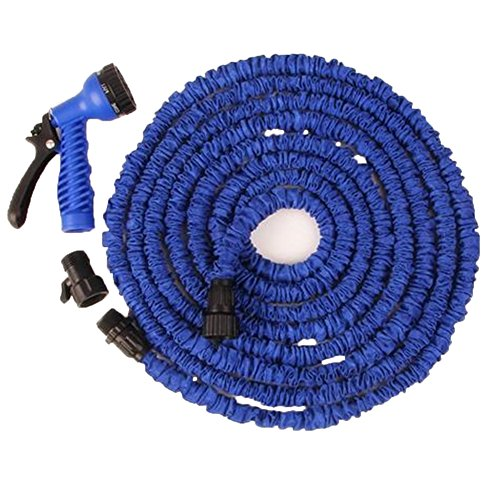 TELLM 3 times stretch pipe for telescopic garden watering tool water gun set stretched 15m (Tool Telescopic Garden Set)