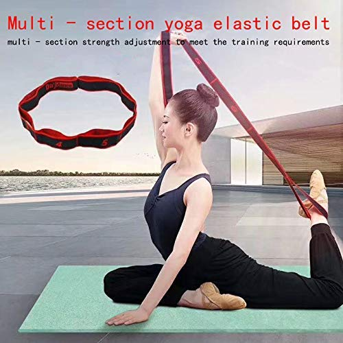 Desconocido Insheng 8 Agujeros Yoga Elástico Cuerda Músculo ...