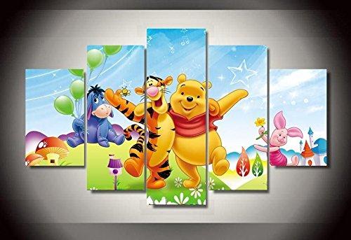 (Winnie the Pooh Disney print canvas decoration 5 pieces)