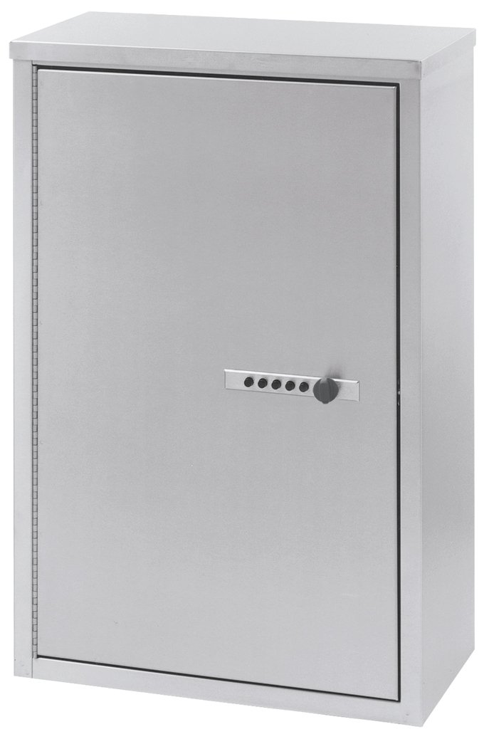 Double Door Large Stainless Steel Narcotic Cabinet With Combo Lock (24''H X 15''W X 8''D)