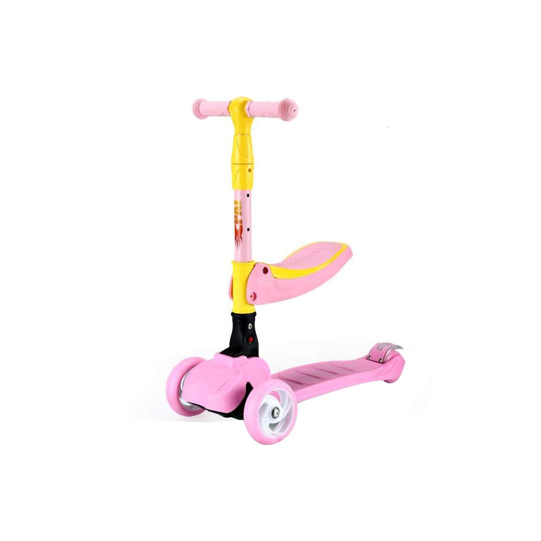 本物保証!  TLMYDD 子供用スクーターは TLMYDD、折りたたみ式3輪スリーインワン子供用スライドカーに乗ることができます B07NMTJC4B、57 (色 x 26 x 81 cm 子供スクーター (色 : Pink) B07NMTJC4B Pink, テントシートの職人工房:4d0f5978 --- a0267596.xsph.ru