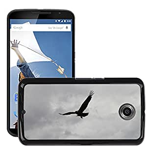 Super Stella Slim PC Hard Case Cover Skin Armor Shell Protection // M00147669 Crow Raven Bird Sky Silhouette // LG Google Nexus 6