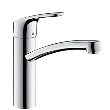 Moderne Hansgrohe Focus Kitchen Tap 160, 360° Swivel Range, chrome: Amazon XY-37