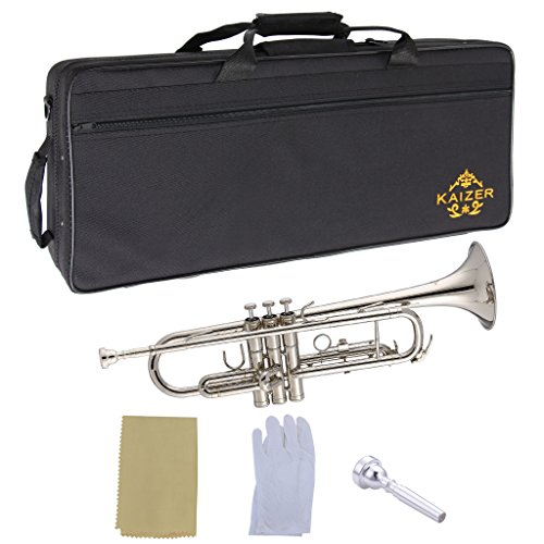Kaizer Trumpet B Flat Bb Nickel Silver Includes Travel for sale  Delivered anywhere in USA