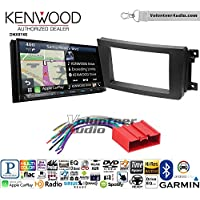 Volunteer Audio Kenwood DNX874S Double Din Radio Install Kit with GPS Navigation Apple CarPlay Android Auto Fits 2007-2015 Mazda CX-9