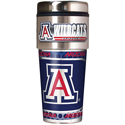 NCAA Arizona Wildcats Metallic Travel Tumbler,  16-Ounce ()
