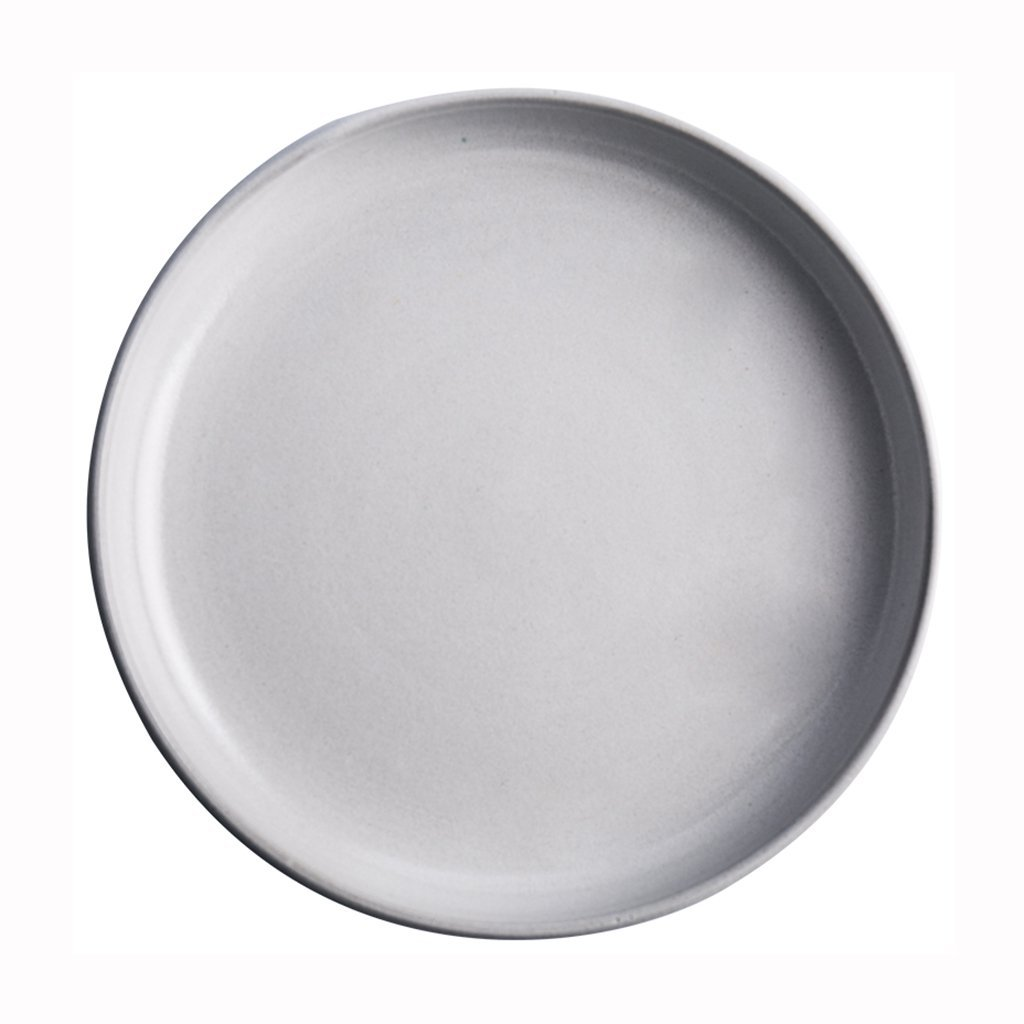 Continental white round dish Stoneware Breakfast Plate Steak Plate Fruit Plate Dish Plate Flat Creative Home Dining Tableware 27 cm (10.6 inches)