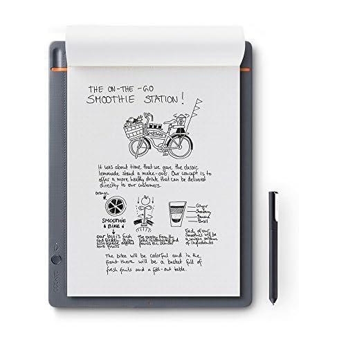 chollos oferta descuentos barato Wacom CDS 810S Bamboo Slate A4 Cuaderno Digital para Apuntes y Dibujo Compatible con Dispositivos iOS Android y Windows Incluye Bolígrafo color Gris Medio