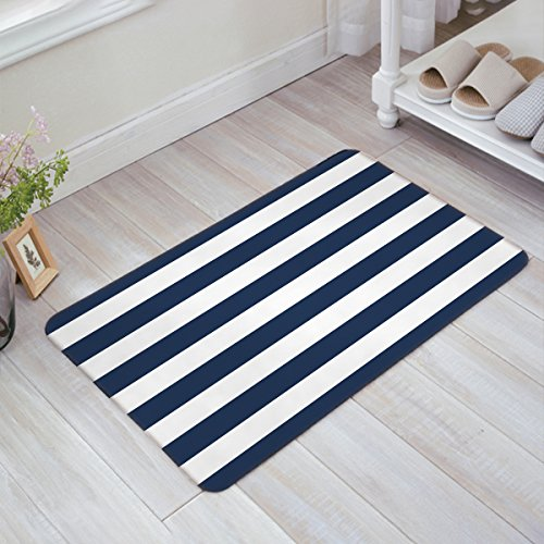 Infinidesign Welcome Doormat Kitchen Floor Bath Entrance Mat Rug Indoor/Front Door Thin Mats Rubber Non Slip 32