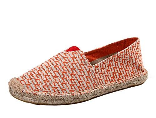 de Rojo ONCEFIRST Zapatillas zapatillas espadrillas para lona de transpirables zapatillas mujer planas FF5rPB6