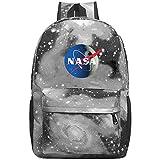 NASA Logo Galaxy School Backpack Bookbag For School College Student Travel Busines