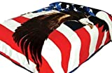 75''Wx90''H USA American Flag Blanket,The Stars and Stripes,Old Glory,and The Star-Spangled Banner. 2ply ,Korean knitted mink . Warm, Cashmere -like by Hiyoko