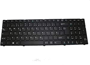 Laptop Keyboard for Medion E7415 E7416 E7416T E7423 E7419 E7424 E7420 Black with Frame GR German