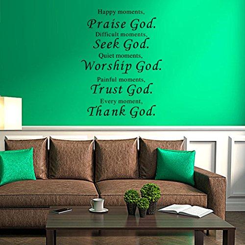 Wall Praise Vinyl Home Decor : Lankey wall vinyl decal quote sign christian praise god