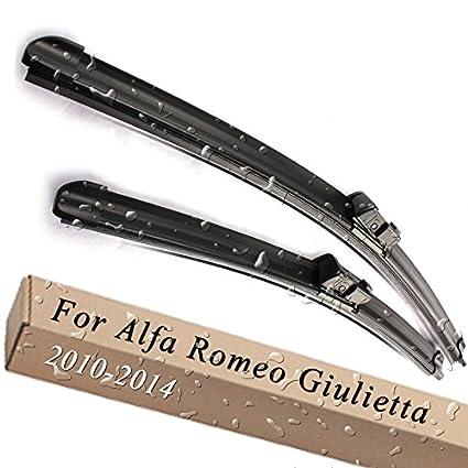 Parabrisas delantero y trasero Limpiaparabrisas para Alfa Romeo Giulietta 940 23 & 18 ajuste botón armas 2010 - 2014: Amazon.es: Coche y moto