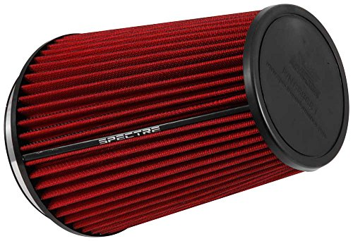 Spectre Performance HPR9881 Universal Clamp-On Air Filter: Round Tapered; 6 in (152 mm) Flange ID; 10.25 in (260 mm) Height; 7.719 in (196 mm) Base; 5.219 in (133 mm) Top
