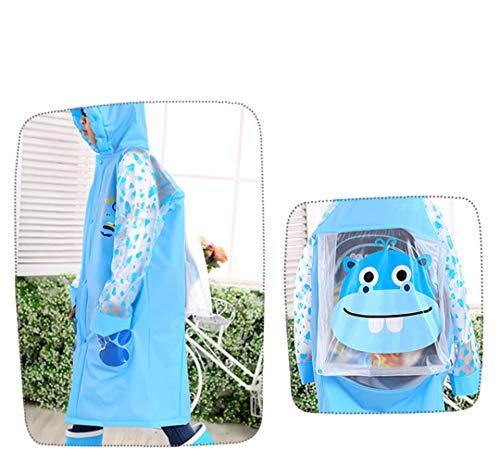 Sywwlov Kids Toddler Raincoat Hooded School Backpack Reusable Rain Ponchos Cape Jacket Rainwear (Pink, M(Fit 42.9''-46.8'' Height)) by Sywwlov (Image #5)