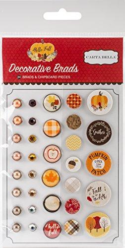 Carta Bella Paper Company Hello Fall Decorative Brads -