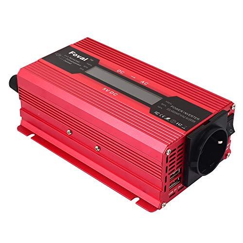 TOPmountain - 1200W Peak Solar Power Inverter for Car,DC 12V to 220V AC Converter for Phone Home Appliances