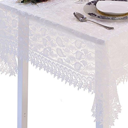 European-style transparent lace table cloth/Fashion lace table cloth/ light flashing rectangle coffee table cloth-A (Flashing Rectangle Light)