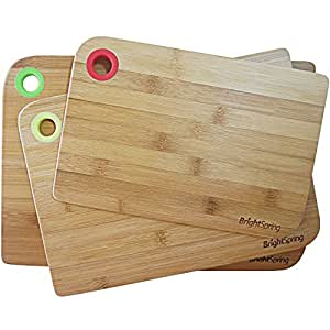 Clearance bamboo cutting board set eco for Kitchen knife set of 7pcs with cutting board